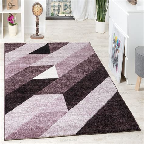 teppich 3d designer teppich hochwertig diagonal streifen dreiecke 3d