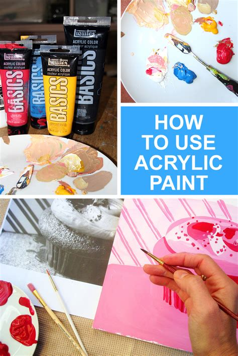how to use acrylic paint beginner s manual for the medium