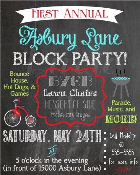 Best 25 Block Party Invites Ideas On Pinterest Block Flyer Template Summer