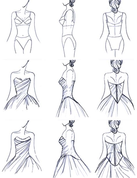 Fashion Design Vorlage Wallpapers Collection Wedding Dress Designs Sketches