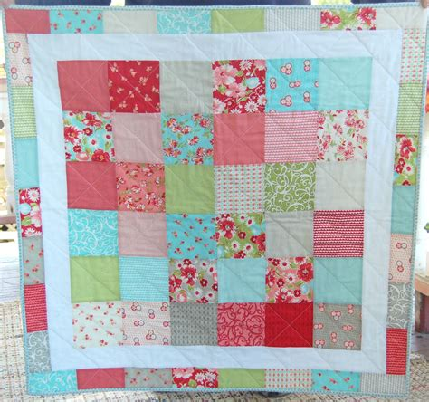 Patchwork Baby - baby quilt moda ruby patchwork quilt baby blanket