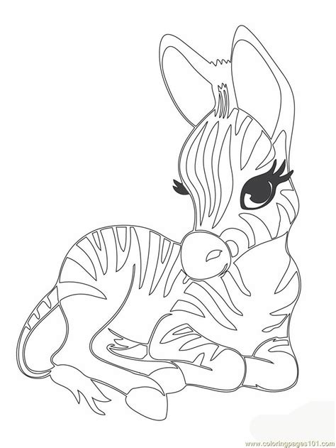 Cute Zebra Coloring Page | free coloring pages of zebra desenhos
