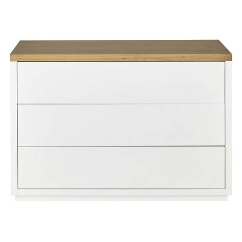 White And Oak Chest Of Drawers by Solid Oak Chest Of Drawers In White W 116cm Austral