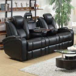 buy delange reclining power sofa with adjustable headrests amp storage in armrests by coaster from