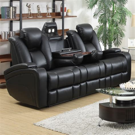 delange power reclining sofa buy delange reclining power sofa with adjustable headrests