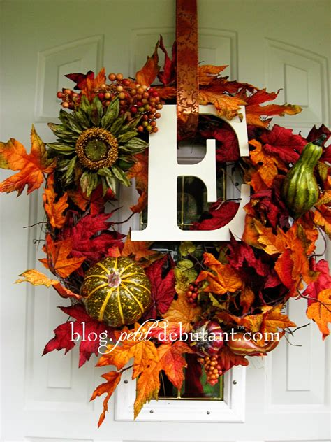 how to make fall decorations at home diy fall wreaths ideas classy clutter