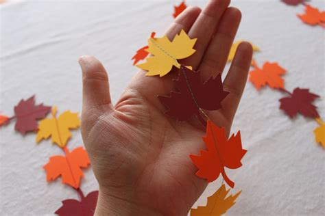 Paper Leaf Craft - five leafy projects for fall 187 dollar store crafts