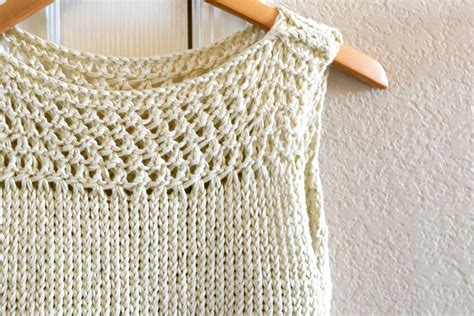 simple knitting summer vacation knit top pattern in a stitch