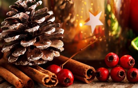 christmas ka wallpaper обои палочки новый год праздник красные падуб листья
