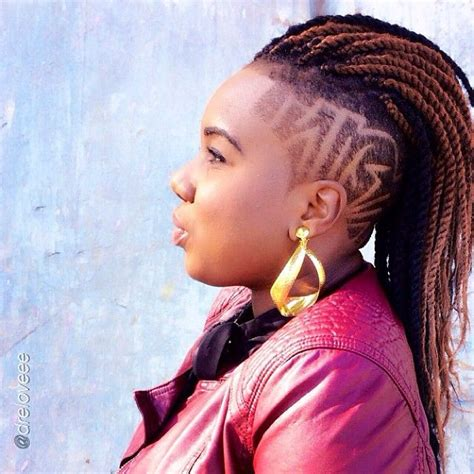 braid style with shaved back hair2mesmerize photo braids buns and bangs
