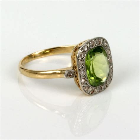 antique peridot and ring my style