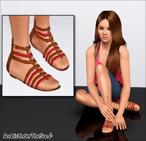 Empire sims 3 athena sandals by anubis360 mts
