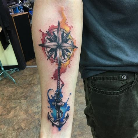 75 rose and compass tattoo designs amp meanings choose