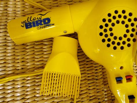 Yellow Bird Hair Dryer hair products i use