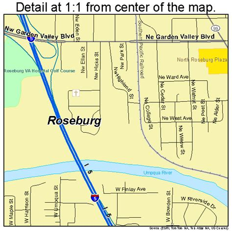 roseburg oregon map roseburg oregon map 4163650