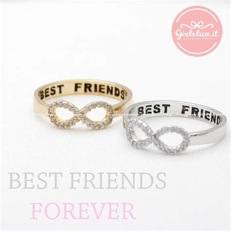 infinity ring best friends jewels jewelry ring infinity ring best friends