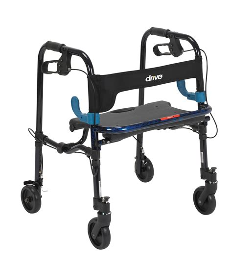 walkers for seniors with seat near me clever lite walker junior with 5 quot wheels drive