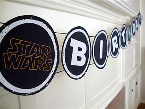 printable star wars happy birthday banner 25 stupendous star wars party ideas tip junkie
