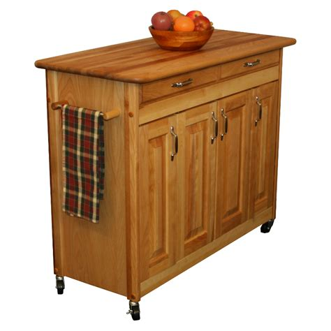 kitchen butchers blocks islands catskill butcher block kitchen island w spice rack