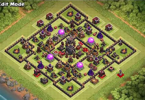 best th9 hybrid base 2016 coc th9 hybrid base 2016 2017 with bomb tower cocbases