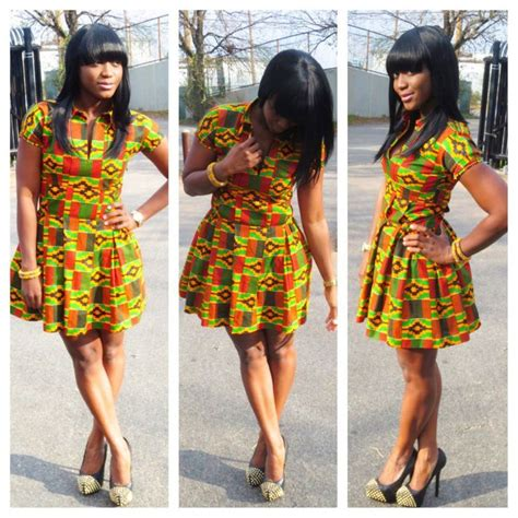 Short Kente Styles | ankara short dress african wear pinterest