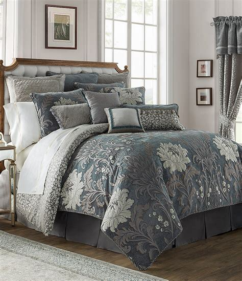 waterford comforters waterford ansonia floral jacquard comforter set dillards