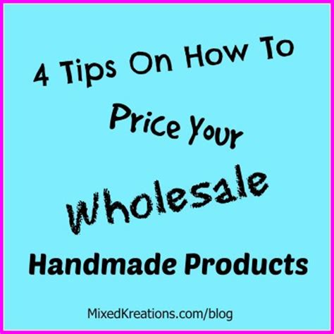How To Price Your Handmade Items - 4 tips on how to price your wholesale handmade products