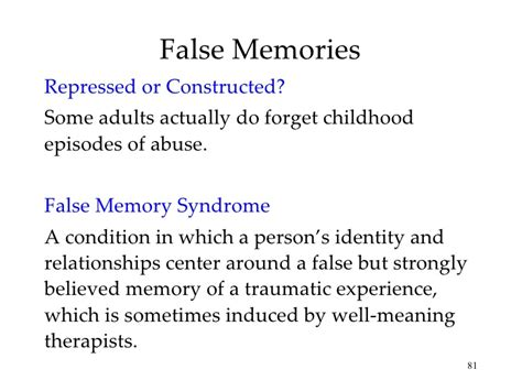 memory warp how the myth of repressed memory arose and refuses to die books chapter 9 ap psych memory
