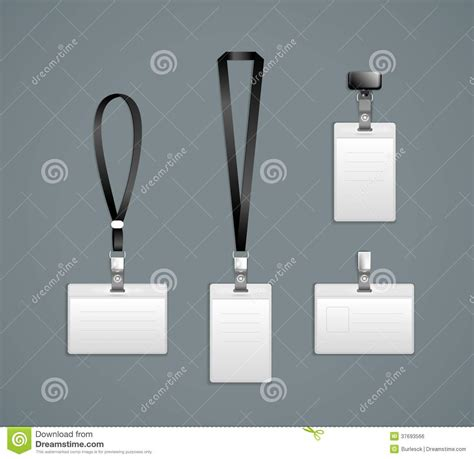 lanyard card template lanyard retractor end badge templates royalty free stock