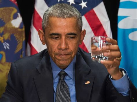 the obama s obama drinks flint s filtered water during visit to shine