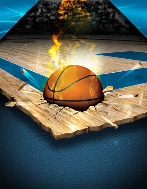 Creative Background Basketball Game Training Material