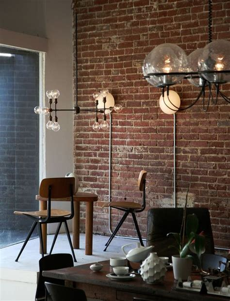 exposed brick wall lighting industrial sconces with exposed conduit lights