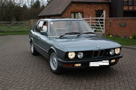 1987 bmw 528i 1987 e28 bmw 528i saloon 1 years mot e28 sold on car and