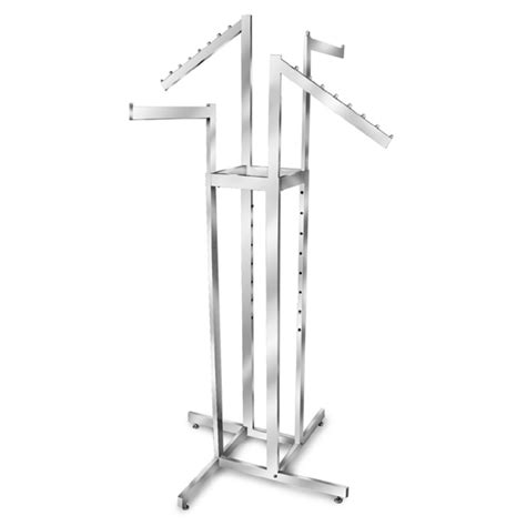 chrome 4 way clothing rack mixed arm rack adjustable