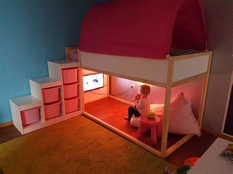 playroom ikea kura bedtent trofast beanbag chambre
