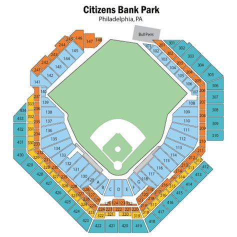 citizens park bank citizens bank park seating chart citizens bank park