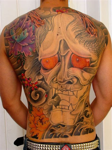 japanese hannya mask back tattoo asian tattoos and designs page 105