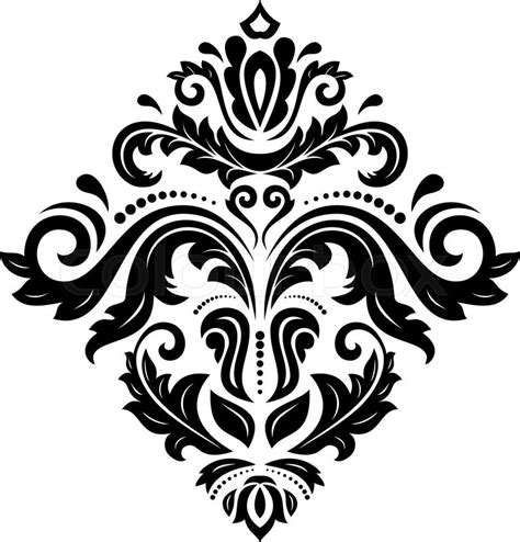 oriental arabesque pattern vector free damask vector floral pattern with arabesque and oriental