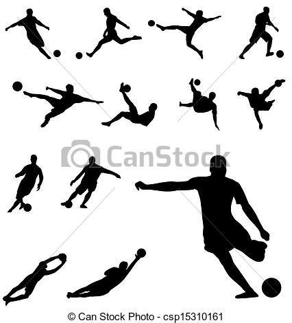 disegni clipart clip vektor silhouetten fussball fussball