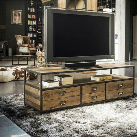 Meuble Tv Interiors by Meuble Tv Hifi Marron Interior S
