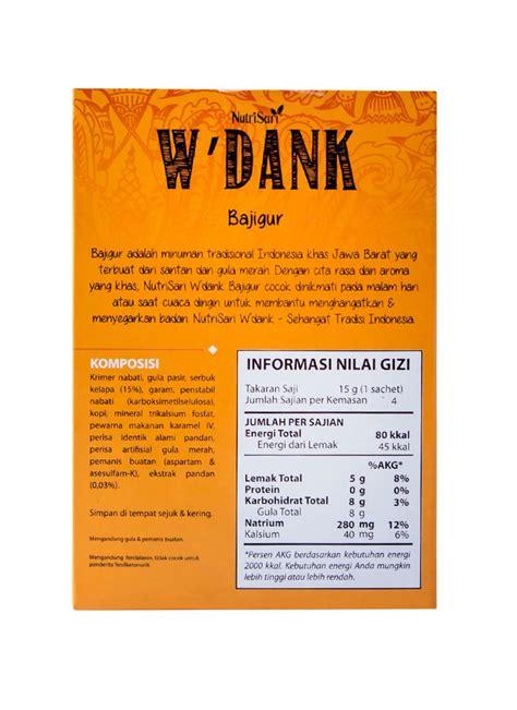 Nutrisari W Dank Bajigur 4sx15g nutrisari minuman w dank bajigur box 4x15g klikindomaret