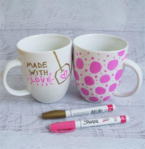 diy mug design kit sharpie mug diy project popsugar australia smart living
