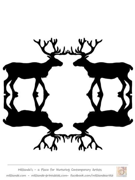 printable reindeer silhouette great black silhouettes of reindeer free to print love it