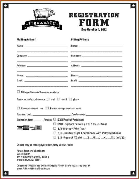 Dance School Registration Form Template Free Sletemplatess Sletemplatess Class Registration Form Template Free