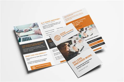 one fold brochure template free 3 fold brochure template for photoshop illustrator