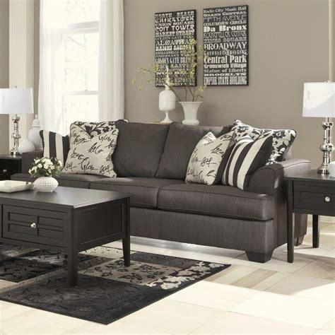 levon charcoal sofa signature design by furniture levon microfiber sofa