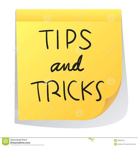 tips tricks tips nd tricks stock vector illustration of metaphor
