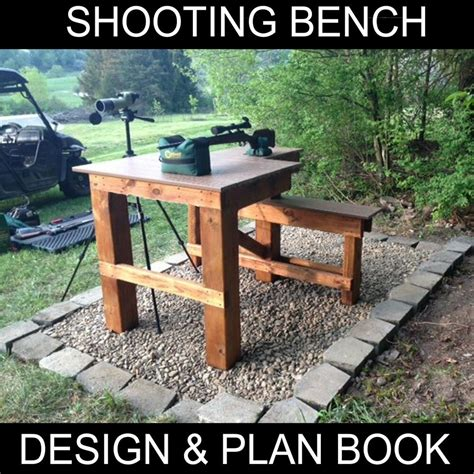 shooting bench plans booklet build   bench