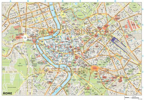 italy rome pdf free download royalty free rome illustrator vector format city map