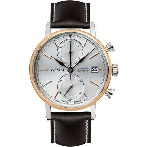 Expedition 6646mc Black Silver Leather For expedition south america series 42mm silver black leather the watchmaker